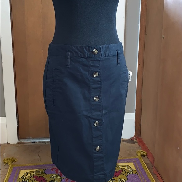 Old Navy Dresses & Skirts - Old navy black mini skirt with buttons, NWT